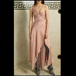 Jonathan Simkhai   Striped Asymmetrical Midi Dress